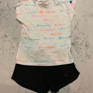 Girls size 4T outfit shorts and shirt